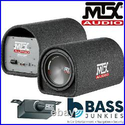 MTX RT8PT 8 360 Watts Sub Subwoofer Built-in Amplified Bass Box Tube Enclosure