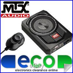 MTX RTU8P 600 Watts 8 Active Amplified Car Under Seat Slim Fit Subwoofer