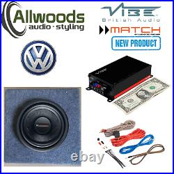 Match PP 8W-Q 8 Sub and Vibe Amp Package Underseat VW T5 custom box