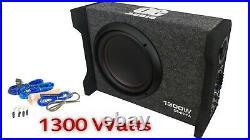 OE AUDIO 10 Inch 25cm 1300W Active Car Subwoofer Bass Box slim Compact design