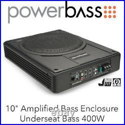 Powerbass STA-10 10 Amplified Bass Enclosure Underseat Bass 400W BNIB