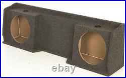 QPower GMC Chevy Silverado Ext Cab'99-06 Dual Underseat Two 12 Subwoofer Box