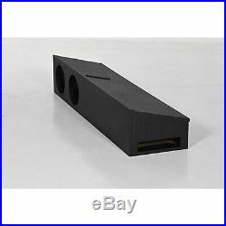 QPower QBFORDFF09208 8 Inch Dual Port Subwoofer Box for Ford F150, F250, & F350