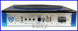 Rockville RW10CA 10 800 Watt Under-Seat Slim Amplified Car Subwoofer +Wire Kit