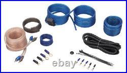 Rockville RW8CA 8 600 Watt Under-Seat Slim Amplified Car Subwoofer +Wire Kit