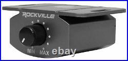 Rockville USS8 8 600w Slim Under-Seat Powered Car/Truck Subwoofer Sub+Amp Kit
