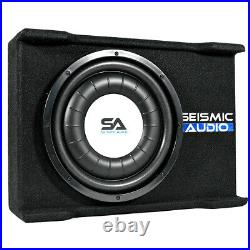 Shallow Mount 12 600 Watt Car Truck Audio Subwoofer Enclosure for Tight Spaces