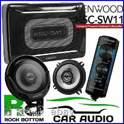 Smart ForTwo 1998-02 Kenwood Amplified UnderSeat Sub Box & Dash Car Speaker Kit