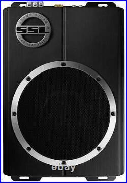 SoundStorm LOPRO10 10 1200W Car Audio Slim Under Seat Powered Subwoofer Sub