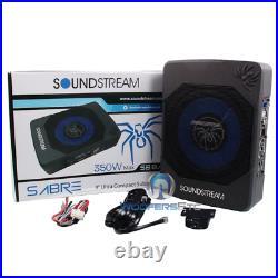 Soundstream Sb8am 8 Behind Under Seat Subwoofer Box Bass Speaker Amplifier New