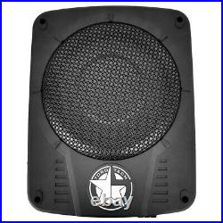 Toro Tech Audio SLIM10 300w RMS Powered Subwoofer Under Seat, Hideaway Active