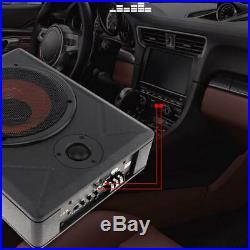 Universal 8'' 600W Slim Under Seat Car Active Subwoofer Bass Amplifier Speaker