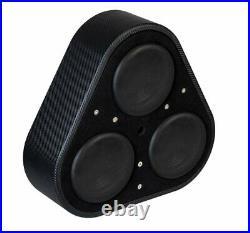 VIBE Audio 1500W BlackAir Wheel Well Triple 8 Inch Passive Subwoofer Enclosure