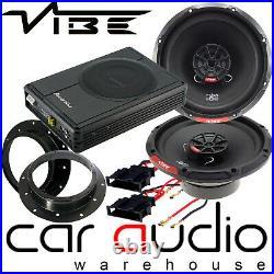 VW Caddy MK3 2003 On Vibe 480 Watts Speakers & 300 W Underseat Car Subwoofer Kit