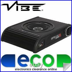 Vibe Optisound 8 Inch 900 Watts Slim UnderSeat Car Sub Subwoofer Bass Enclosure