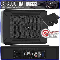 Vibe PULSE C8 Car Underseat Slim Active Amplified Subwoofer Bass Box Enclosure