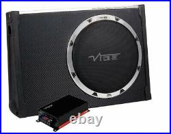 Vibe Sub & Amp package Slim fit BlackairT12S and Micro 400.1 + wiring kit 900w