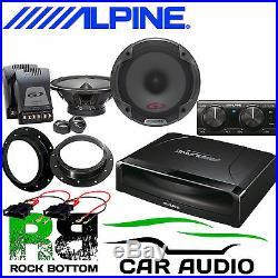 Volkswagen T6 ALPINE Under Seat Active Subwoofer & 560W Door Upgrade Speaker Kit