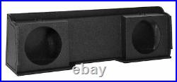 Xcab Dual 10 Downfire Sealed Subwoofer Sub Box Enclosure For 1999-06 GMC/Chevy